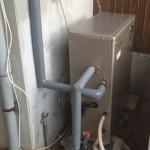 太陽熱温水器撤去・ボイラー取付工事