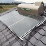 太陽熱温水器(3枚パネル)取り付け・板金塗装工事