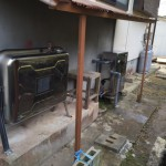 太陽熱温水器撤去・石油ボイラー取付工事