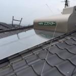 太陽熱温水器取付・漆喰・板金工事