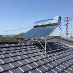 太陽熱温水器・架台取付工事