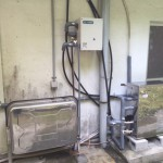 太陽熱温水器・石油ボイラー(オート式)・接続ユニット取付工事