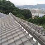 太陽熱温水器撤去・屋根漆喰工事