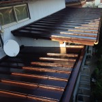 板金屋根塗装・軒天貼替工事