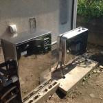 太陽熱温水器撤去・石油ボイラー(オート式)取付工事