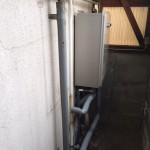太陽熱温水器撤去・ガス給湯器取付工事