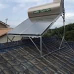 太陽熱温水器(棟またぎ架台付)・蛇口取付工事