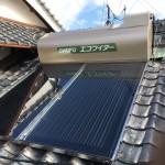 太陽熱温水器取付・浴室目地防水工事