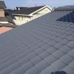 屋根塗装・太陽熱温水器取付工事