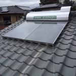 太陽熱温水器取付・漆喰・板金塗装工事