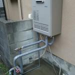太陽熱温水器撤去・ガスボイラー取付工事