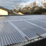 太陽熱温水器撤去・ガルバリウム板金、ポリカーボネート施工工事