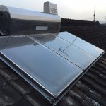 太陽熱温水器撤去・ボイラー取付・井戸ポンプ・洗面台交換工事