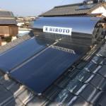 太陽熱温水器撤去・配管水漏れ修繕工事