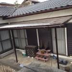 玄関上板金・ポリカ波板貼り替え・雨樋取付工事