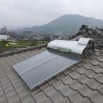 太陽熱温水器取付・蛇口交換工事