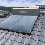 太陽熱温水器撤去・瓦止め工事