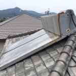 太陽熱温水器撤去・雨樋、漆喰修繕工事