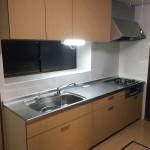 キッチン改装、フローリング上貼り工事
