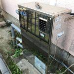 ガス給湯器への入換え及び接続ユニットの設置