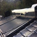 太陽熱温水器の撤去及びボイラーの交換工事