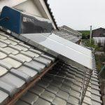 不要になった太陽熱温水器の撤去と瓦止め工事