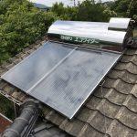太陽熱温水器 乗せ換え工事