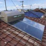 太陽熱温水器乗せ換え工事