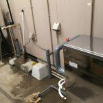 太陽熱温水器撤去と灯油ボイラー交換工事