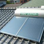 太陽熱温水器・接続ユニット取付工事