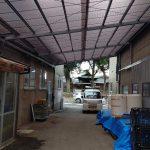 工場通路屋根 原状復旧工事