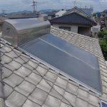 太陽熱温水器 撤去工事