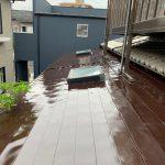 太陽熱温水器番線交換・板金屋根塗装工事