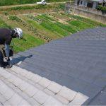 太陽熱温水器撤去・瓦、板金屋根塗装工事